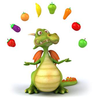 El dragón vegetariano