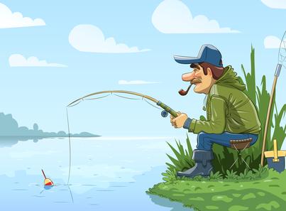 el pescador y el r u00edo clip art fishing boat clipart fishing pole